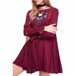 Free People Mohave Embroidered Dress